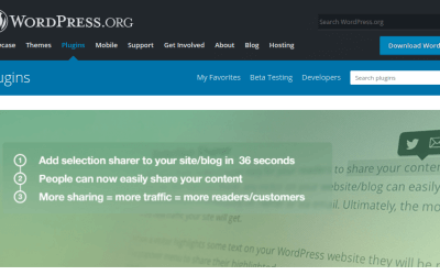 Trucos Wordpress. Plugin Selection Sharer