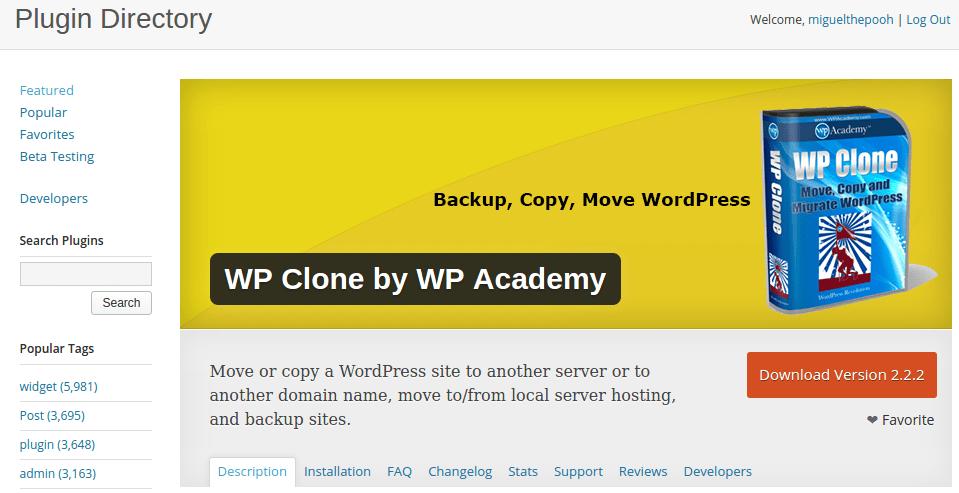 wordpress hacer clon de nuestra web
