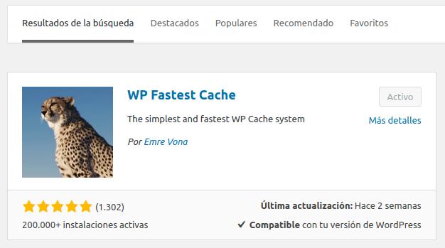 Añadir plugins ‹ desmarcateya.com — WordPress wp fastest cache