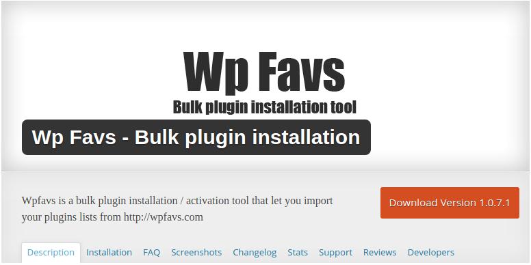 Wp Favs Bulk plugin WordPress lo usamos en desmarcateya para Calafell