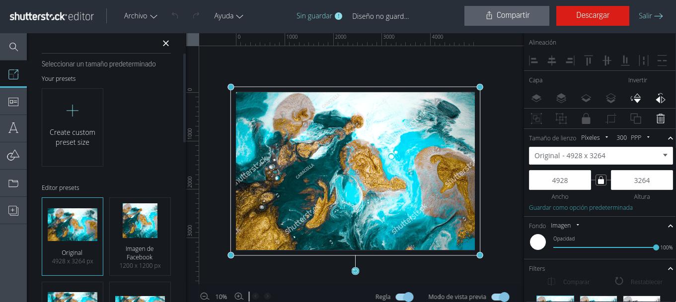 recursos de imagenes con el constructor Shutterstock